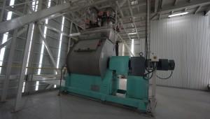 Single-shaft paddle mixer, batch size 2,000 litres
