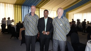 Knut Nesse accompanied (right) by Haiko Zuidhof (left) and Ramakanta Nayak