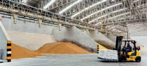 Bunker silo for storing soybean meal, DDGS and more